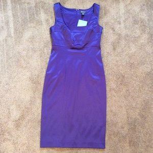 NWT Purple Satiny Pinup Dress
